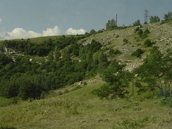 The road leading up to Shusha was the scene of a famous battle between Armenian and Azerbaijani armored vehicles.