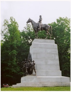 The Virginia Monument is the battlefield's largest equestrian monument.
