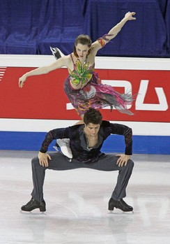 "Lift ""the Goose"" during free dance at 2009 Four Continents"