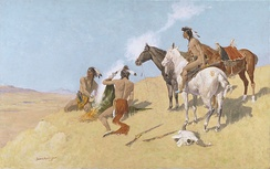 The Smoke Signal; 1905; Oil on canvas; Amon Carter Museum of American Art, Fort Worth, Texas, Amon G. Carter Collection; 1961.250