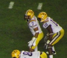 Mathieu (#7) with the LSU Tigers