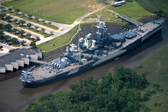 USS North Carolina on permanent display in Wilmington