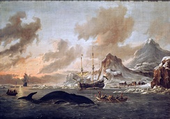 Whaling off the Coast of Spitsbergen, by Abraham Storck