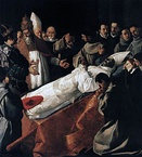 The Death of St. Bonaventure (The Body of St. Bonaventure in the Presence of Pope Gregory X and James I of Aragon), 1629–1630, Louvre Museum