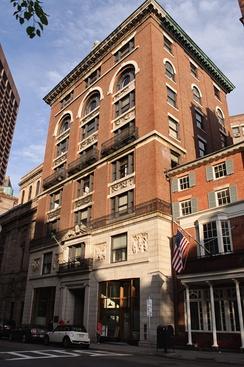 "14 Beacon Street in Boston, the exterior of which was used as the location for the law firm ""Cage & Fish"" (later ""Cage, Fish, & McBeal""), which was located on the 7th floor of this building"