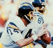 Dan Fouts helped San Diego edge Miami by setting several postseason passing records during the game.