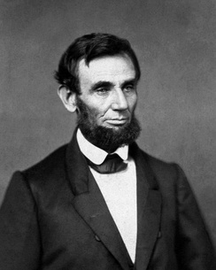 The first photographic image of Lincoln as president