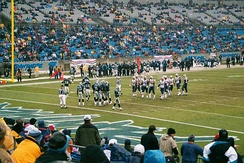 The Patriots on the road at Carolina on January 6, 2002