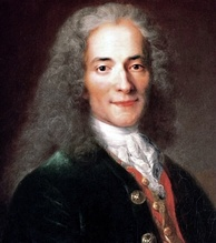 Voltaire, French Enlightenment writer, philosopher and wit.