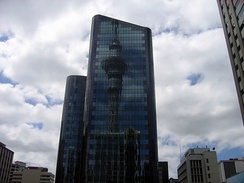 The twin towers of the National Bank Centre are among the tallest buildings in Auckland