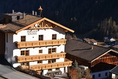 Berghof (Sölden), a typically old tyrolean farmstead, now an alpine lodge – tourist accommodation for guests