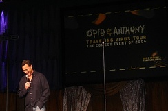 Bob Saget on stage during the Opie and Anthony's Traveling Virus Comedy Tour in 2006