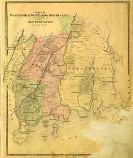 Map of the Bronx in 1867