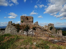 Ruins of the Sáros Castle, a royal fortress built under Béla