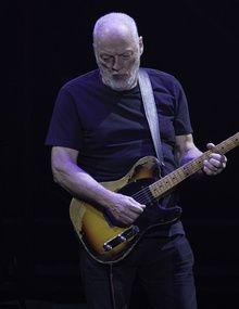 Gilmour playing onstage