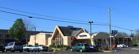 Days Inn, Ann Arbor, Michigan. It was first built as a Howard Johnson's, another brand of Wyndham Worldwide.