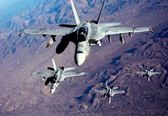 F/A-18Fs being refueled over Afghanistan in 2010