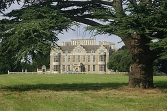 West facade of Lilford Hall