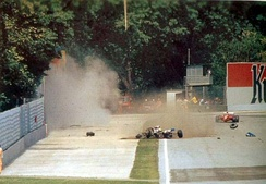 Senna's fatal accident after the moment of impact
