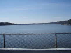 The Lake Tappan reservoir straddles the Bergen County municipalities of Old Tappan and River Vale, as well as a smaller portion within adjacent Rockland County, New York.