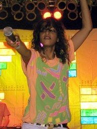 M.I.A. performing on the People vs. Money Tour