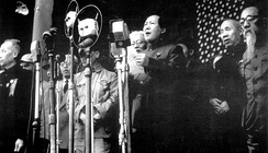Mao Zedong proclaiming the establishment of the PRC in 1949.