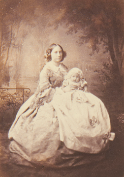 Princess Maria Anna and her infant daughter, Princess Marie Johanna of Saxony