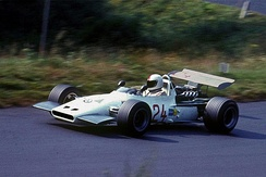 Gerhard Mitter driving the BMW F269 at the Nürburgring shortly before he was killed, August 1, 1969