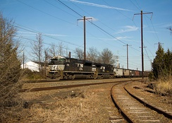 Norfolk Southern Railway freight operating on the NEC in Aberdeen, Maryland