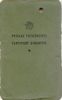 Nansen passport cover, Police office, Prague, 1930
