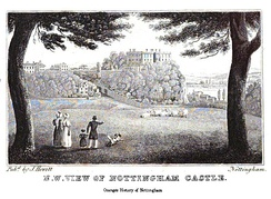 The castle from The History and Antiquities of Nottingham by James Orange, 1840