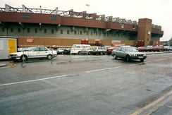 Outside Old Trafford, 1992