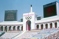 The Opening Ceremony at the Los Angeles Memorial Coliseum