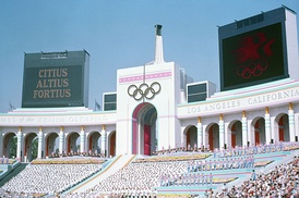 The Opening Ceremony of the 1984 Summer Olympics
