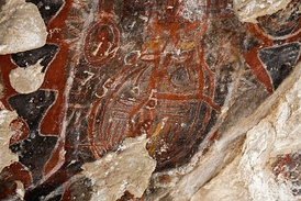 Pictographs at Painted Rock in the Carrizo Plain National Monument
