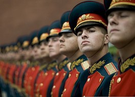 Russian honor guard at Tomb of the Unknown Soldier.