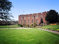 Shrewsbury Castle was built around 1074 by Roger de Montgomery.[15] Today the Castle is home to the Shropshire Regimental Museum.