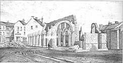 Norman church of St Mary Magdalene, at demolition in 1846