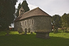 St Swithun's, Nately Scures from the south west
