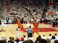 The 2012–13 Razorbacks in action against Syracuse