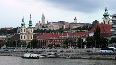 From left: Saint Anne Parish, Matthias Church, Fisherman's Bastion and Stigmatisation of Saint Francis Church