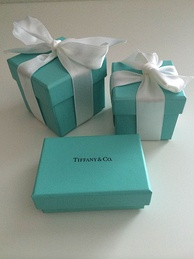 Tiffany & Co. iconic blue gift boxes