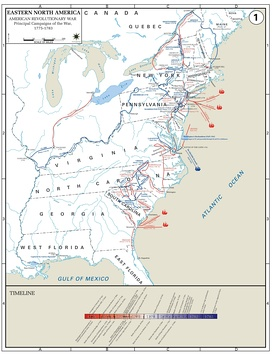 Major Campaigns of the American Revolutionary War