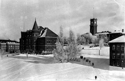 Thompson and Bryan Halls in 1925