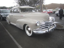 1948 Chevrolet Fleetmaster Sport Coupe. This example has the additional triple fenders mouldings which were a feature of the Fleetline sub-series models