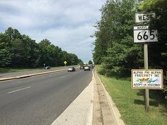 MD 665 in Annapolis