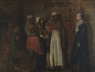 Winslow Homer's 1876 painting A Visit from the Old Mistress