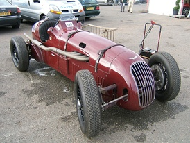 A pre-war Alta competition model in circuit racing trim.