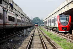 Trains in the Kamalapur railway station