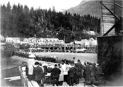 Undated photo of a baseball game in Ketchikan by John Nathan Cobb
